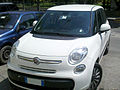""" 13 - ITALY - Fiat 500L White minivan in Alghero front view.jpg"