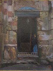 Arab Woman in a Doorway