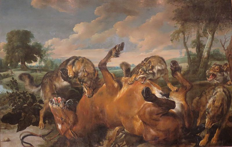 File:'Wolves Attacking a Horse' by Pauwel de Vos and Jan Wildens, 1630s, The Hermitage.JPG