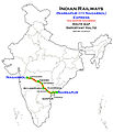 (Nagarsol-Narsapur) Express (via Guntur) Route map.jpg