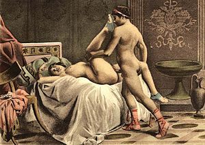 Missionary position - A woman in the butterfly position