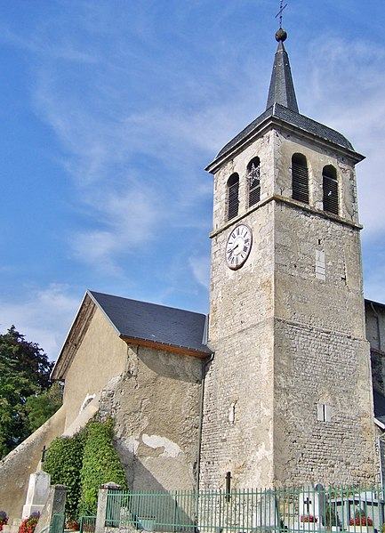 Église Saint-Goerges du Prieuré church, in Saint-Jeoire-Prieuré near Chambéry in Savoie, France.