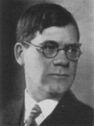 1886 in Sweden - Östen Undén, Prime Minister 1945-61.