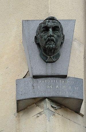 Jiří Mahen - Memorial plaque of Jiří Mahen in Čáslav, his birthplace