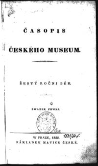 Časopis Českého museum - 1832 - 1.png