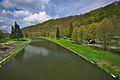 Řeka Bečva z mostu u lázní, Teplice nad Bečvou, okres Přerov.jpg