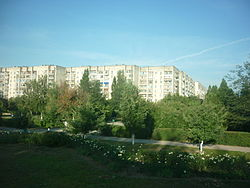 Apartment buildings in Armyansk