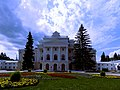 Марьино Усадьба Барятинских Главный фасад Рыльский район 2018 год.jpg