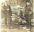 Милутин Бабовић Телеграф са два своја сина, 1912.jpg