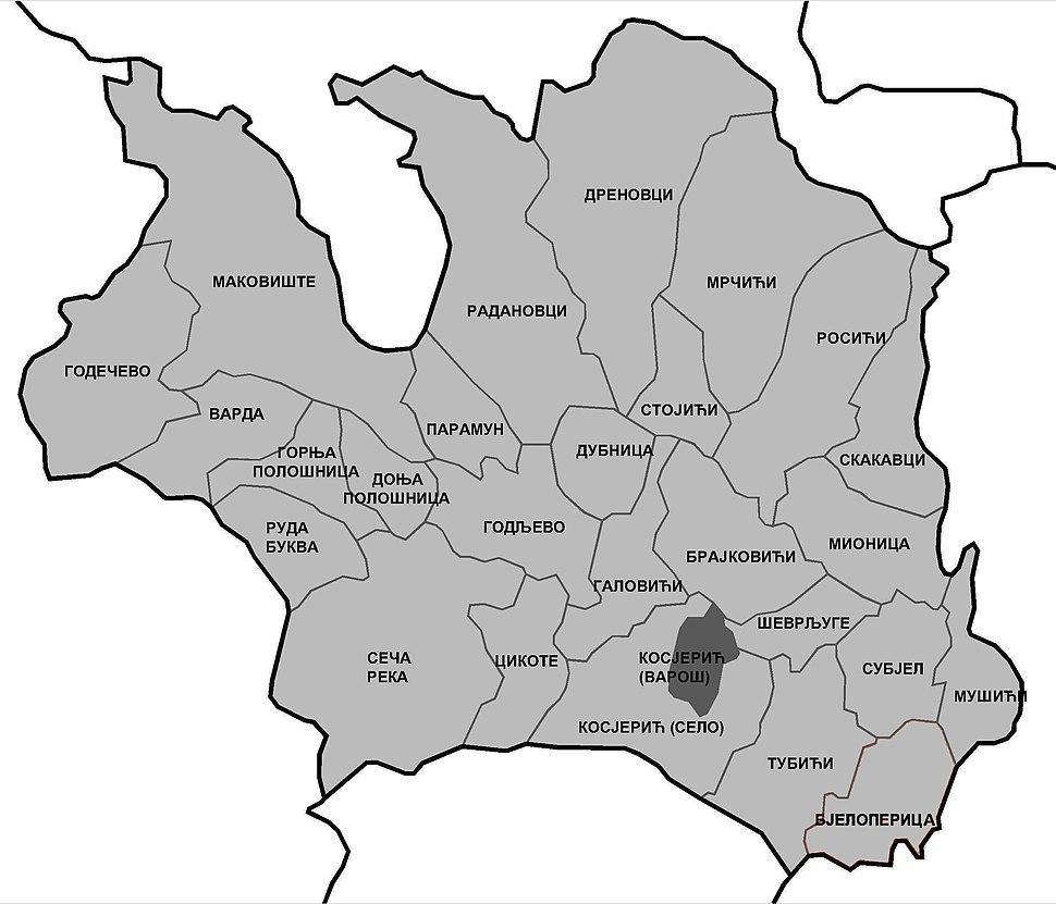 Општина Косјерић - Kosjerić Municipality
