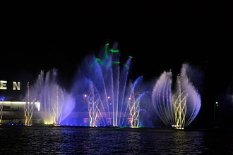 Musical fountain - The Roshen Musical Fountain in Ukraine
