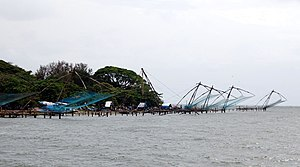 Fort Kochi Beach - Fort Kochi beach and Chinese fishing nets