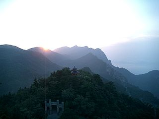 Mount Lu mountain in central China