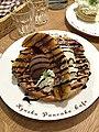 焦糖香蕉巧克力瓦芙, 九州鬆餅, Kyushu Pancake Cafe, 台北 (24502301549).jpg