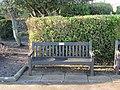 -2018-12-17 Longshot of Marion Creasey dedicated bench, North Lodge Park, Cromer.JPG