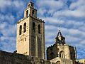 010 Monestir de Sant Cugat del Vallès, campanar i cimbori.JPG