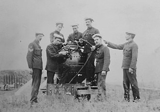 Fort Lytton - Image: 0207 Soldiers with spherical mine 173111(1)