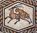 02XX Lod Mosaik Detail Löwin und Säbelantilope anagoria.JPG