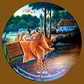 049 Devadatta, who had been the Bodhisatta's Enemy in every Life and attacked Him in this Life is Swallowed by the Earth (9273515792).jpg
