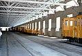 086R28090582 Strassenbahnremise Vorgarten, Halle, Arbeitswagen Typ SP 6051 09.05.1982.jpg