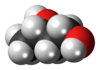 Spacefill model of 1,3-butanediol (S)