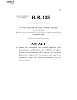 116th United States Congress H. R. 0000135 (1st session) - Federal Employee Antidiscrimination Act of 2019 C - Referred in Senate.pdf
