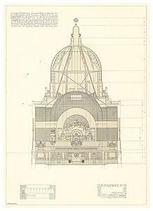 11 Otto Wagner-Kirche - Baumgartnerhöhe - Wagner Band 5. 6. und 7. Heft - Querschnitt, Heliogravur.jpg
