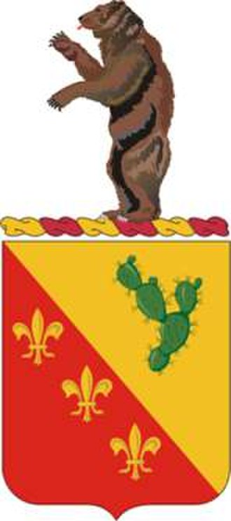 129th Field Artillery Regiment - Coat of arms