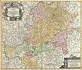 1730 Homann Map of the Upper Rhine ( Frankfurt, Cassel, Coblentz, Darmstadt ) - Geographicus - RhenanusSuperior-homann-1730.jpg