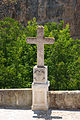 1756 wayside cross, Alhama de Granada, Andalusia, Spain.jpg
