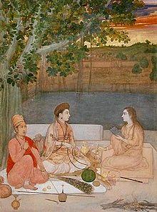 original yoga painting omwoman yoga meditate. 17th Century Painting Showing Female Nath Yogis. Original Yoga Omwoman Meditate