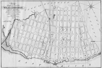 Williamsburg, Brooklyn - Map of the Village of Williamsburgh (1827)