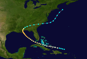 1852 Atlantic hurricane season - Image: 1852 Atlantic hurricane 1 track