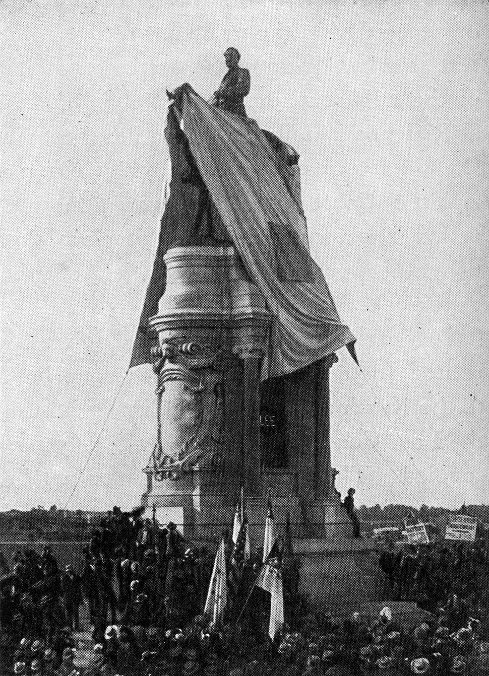 1890 Lee statue unveiling