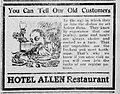 1910 - Hotel Allen Newspaper Ad3 Allentown PA.jpg