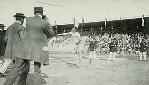 Athletics at the 1912 Summer Olympics – Men's javelin throw - Image: 1912 Eric Lemming 2