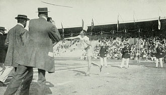 Athletics at the 1912 Summer Olympics – Men's javelin throw - Lemming on the way to win the gold medal.