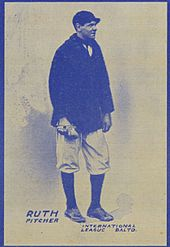 39212d74310 Baseball card showing Ruth as a Baltimore Oriole