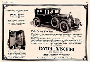 Isotta Fraschini Tipo 8 - 1923 Isotta Fraschini Tipo 8 American ad