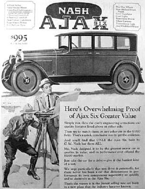 Ajax (American automobile) - 1925 Ajax advertisement