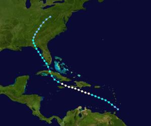 1928 Haiti hurricane - Image: 1928 Atlantic hurricane 2 track
