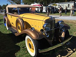 1932 Nash Advanced Eight 4-door convertible (CCCA Full Classic) at 2015 AACA Eastern Regional Fall Meet 03of17.jpg