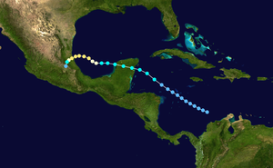 1947 Atlantic hurricane season - Image: 1947 Atlantic hurricane 2 track