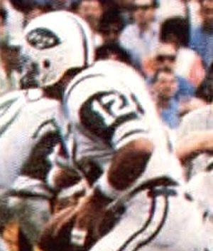 Joe Namath - Namath running a play for the Jets in Super Bowl III.