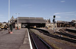 Perth railway station, Scotland - Perth station in 1989.