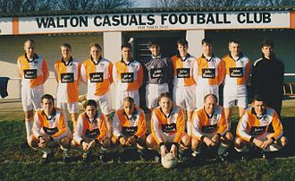 Walton Casuals F.C. - The 1997–98 Walton Casuals squad, managed by Mick Byrne.
