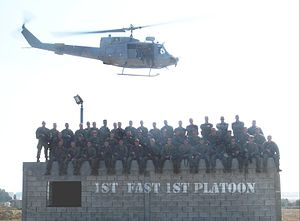 Marine Corps Security Force Regiment - The Marines of 1st FAST 1st Platoon after raiding a mock embassy in Rota Spain.