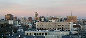 Lansing (MI) skyline as seen from the east.