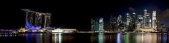 Marina Bay, Singapore - Image: 1 marina bay night 2012