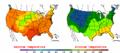 2002-09-14 Color Max-min Temperature Map NOAA.png
